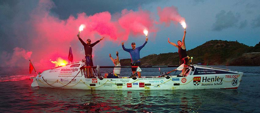 Heads Together and Row complete the Talisker Whisky Atlantic Challenge 2018 - Henley Business School Finland
